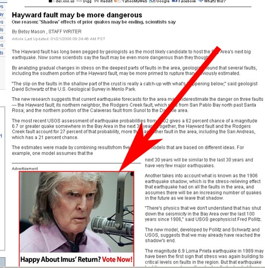 Unstable Hayward Fault or Don Imus, which is worse?